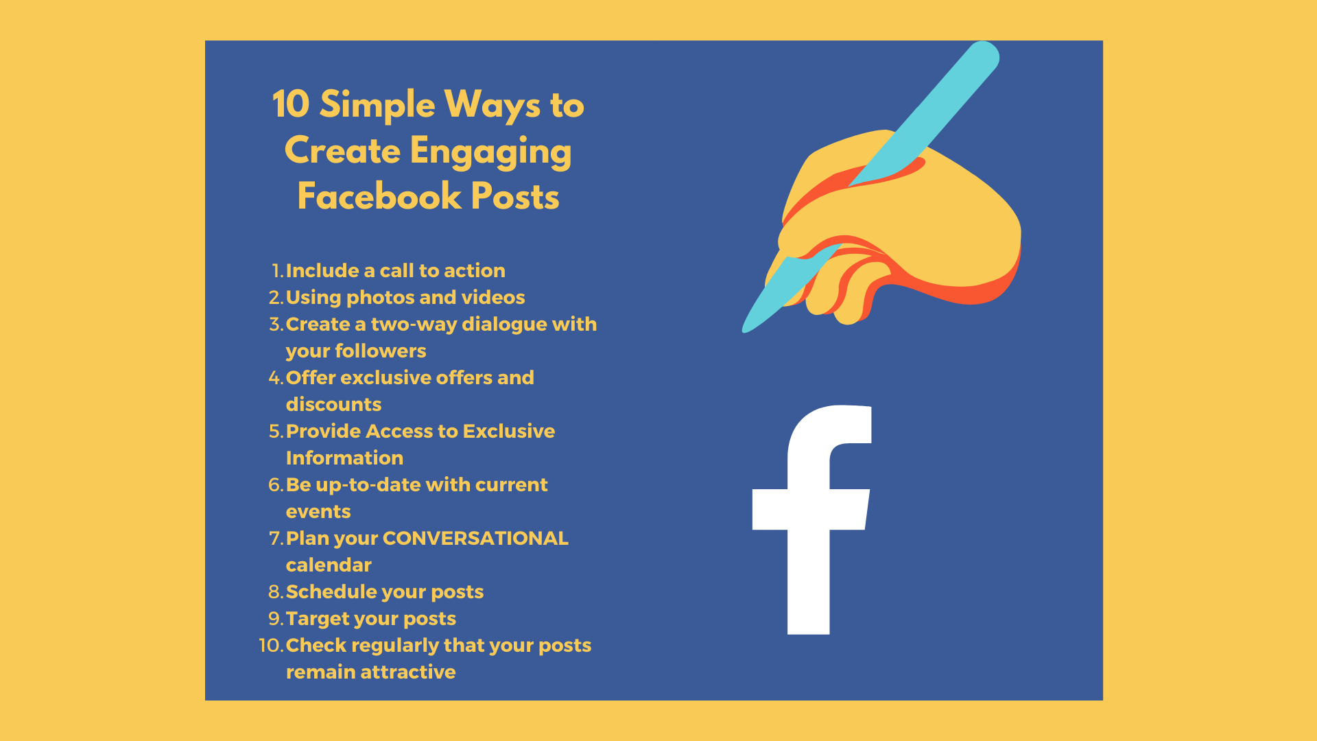 10 Simple Ways to Create Engaging Facebook Posts