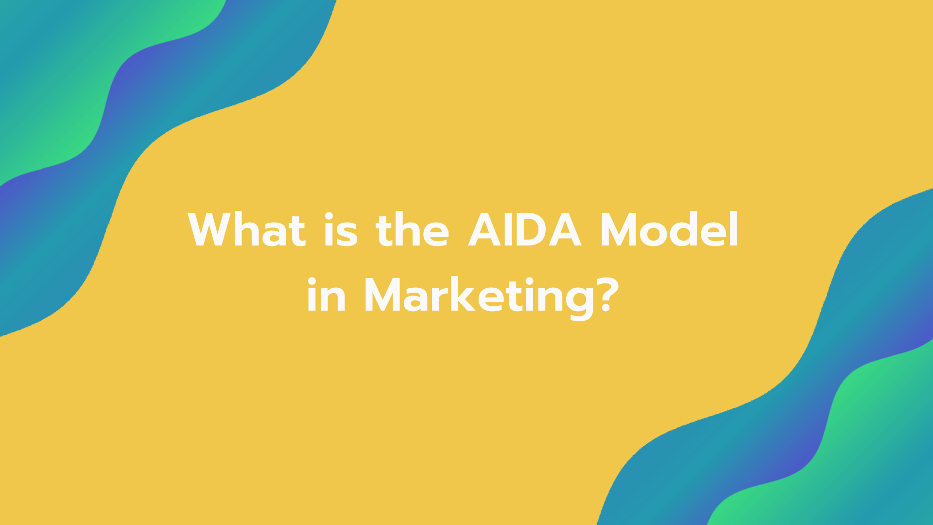 What is the AIDA model in marketing